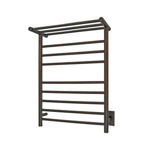 WarmlyYours Huron 23.6-in Bronze 8-Bar Towel Warmer