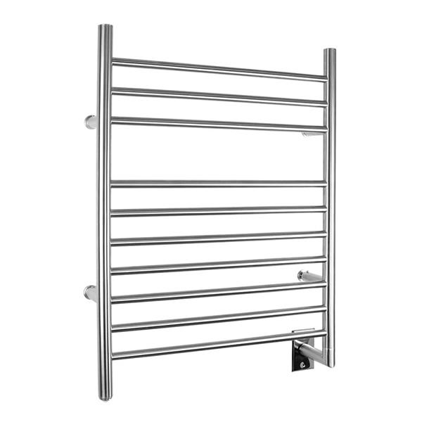 WarmlyYours Infinity 24-in Brushed Steel 10-Bar Hardwired Towel Warmer with WeMo Switch