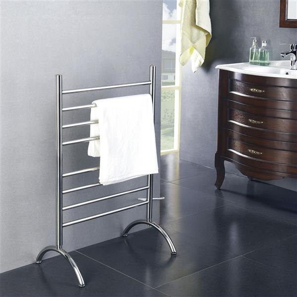 WarmlyYours Barcelona 36-in Stainless Steel 13-Bar Free Standing Towel Warmer with WeMo Switch