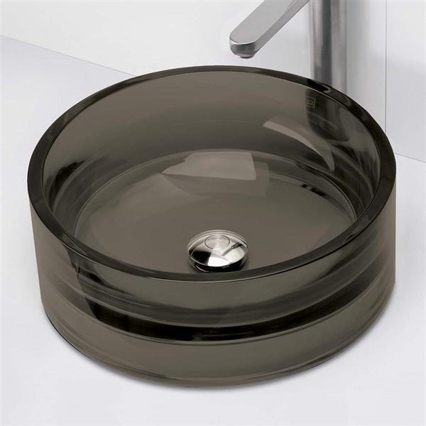 Decolav Lana Above-Counter Round Shadow Resin Sink