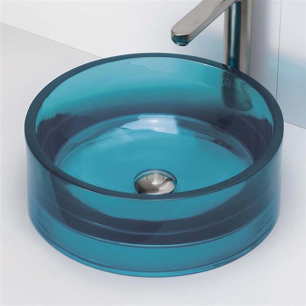 Decolav Lana Above-Counter Round Lagoon Resin Sink