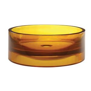 Vasque en résine Lana, rond, rayon de miel