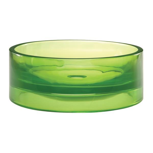 Vasque en résine Lana, rond, absinthe