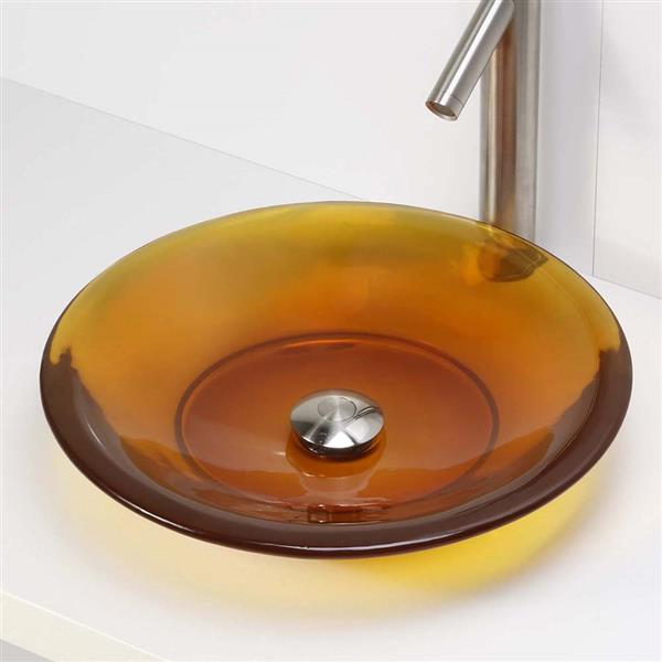 Decolav Nadine Honeycomb Above-Counter Resin Round Sink
