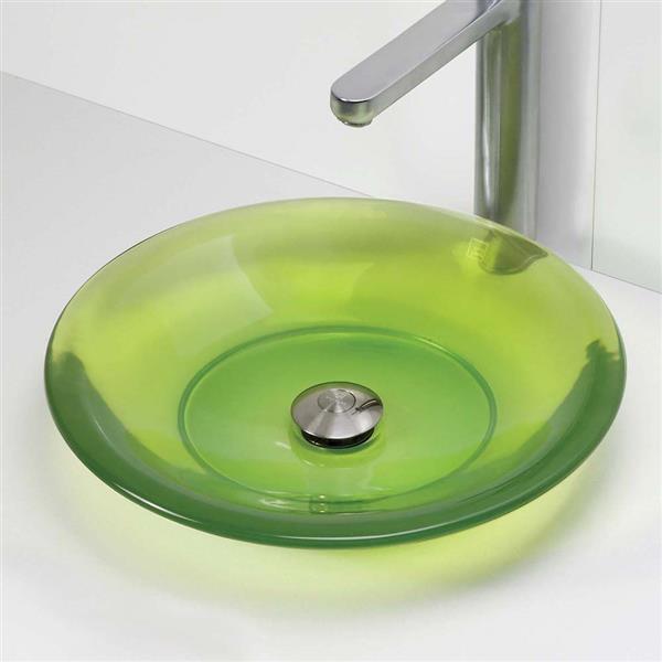 Decolav Nadine Absinthe Above-Counter Round Resin Sink