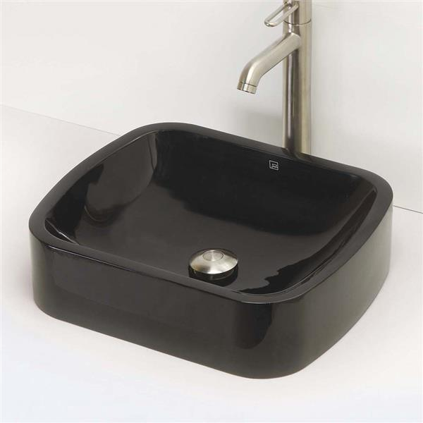 Decolav Lacee Above-Counter Rectangular Obsidian Sink