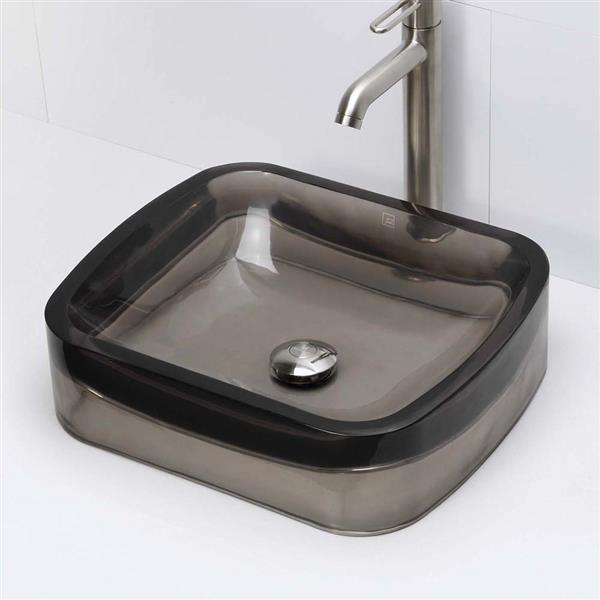 Vasque en résine Lacee, rectangulaire, ombre