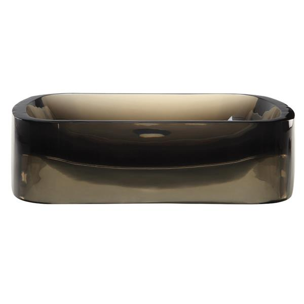 Decolav Lacee Above-Counter Rectangular Shadow Sink