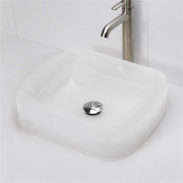 Decolav Lacee Above-Counter Rectangular Mist Resin Sink