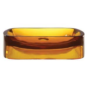 Vasque en résine Lacee, rectangulaire, rayon de miel