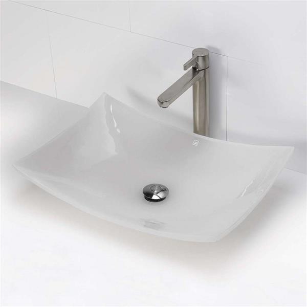 Vasque en résine Darya, rectangulaire, brume