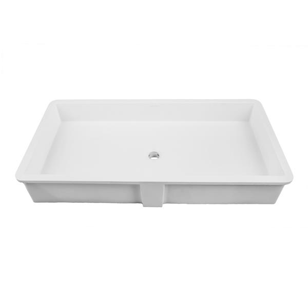 Decolav Solid Surface Rectangular Undermount Lavatory - White