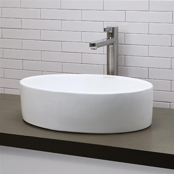 Decolav Jaelyn Above-Counter Oval White Sink