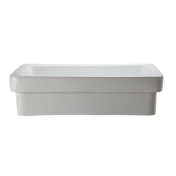 Decolav Ambre White Rectangular Semi-Recessed Sink