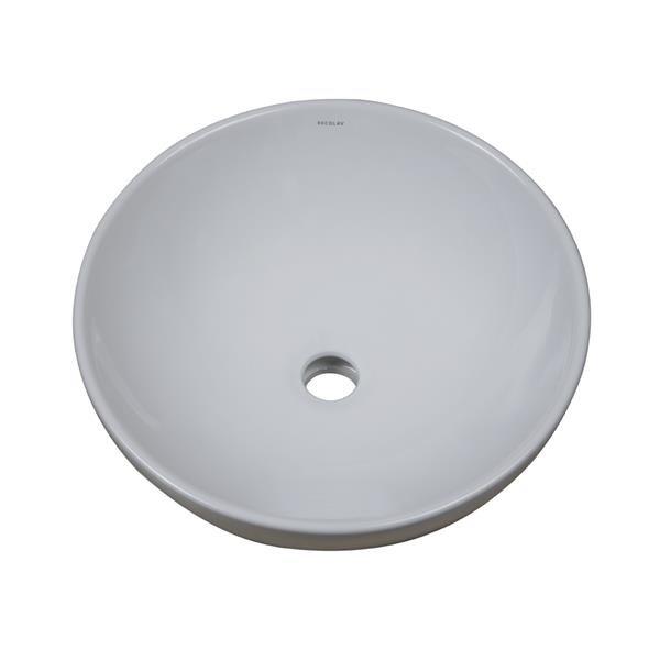 Decolav Aila Above-CounterWith Overflow Round White Bathroom Sink