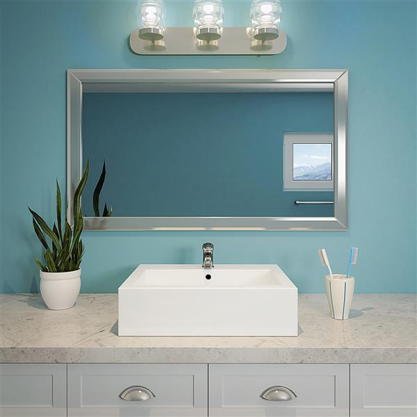 Decolav Bluebell White Rectangular Above-Counter Sink With Overflow