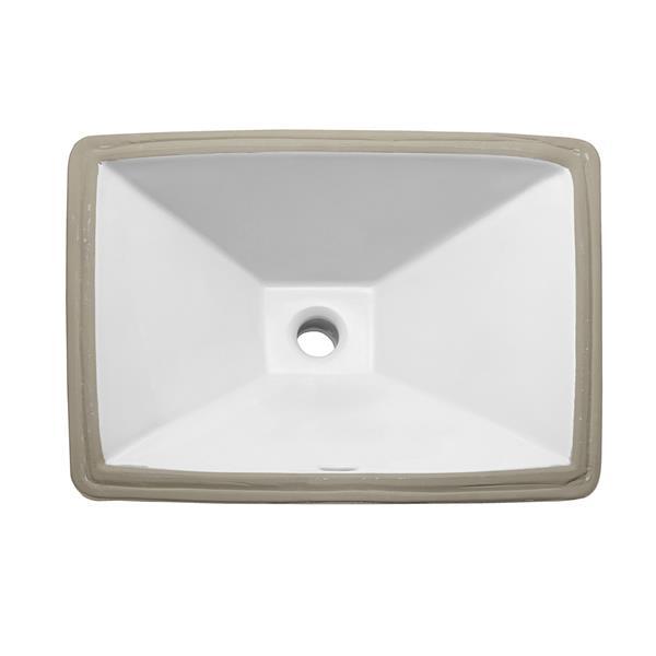 Decolav Amabella White Undermount Bathroom Sink