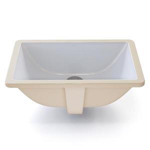 Lavabo encastré avec trop-plein Callensia, rectang., blanc