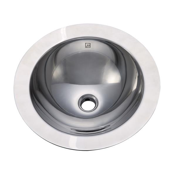 Decolav Simin Above-Counter Vessel with Overflow- Round- Polished