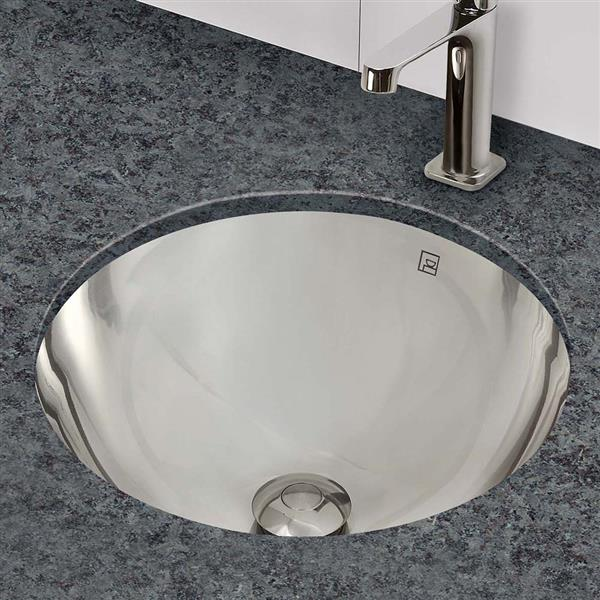 Decolav Hayley Round Polished Sink With Overflow