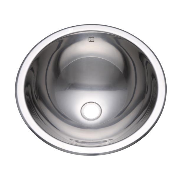 Decolav Teanna Simply Stainless Drop-in/Undermount Sink - Round