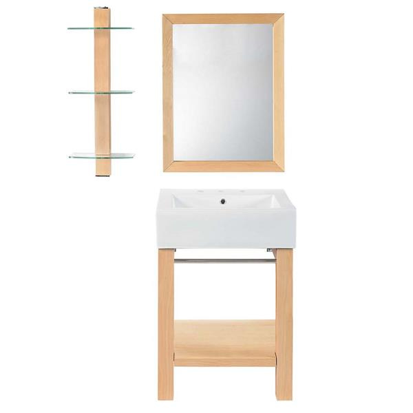 Decolav Infusion 24-in Maple Wall Mounted Lavatory Console