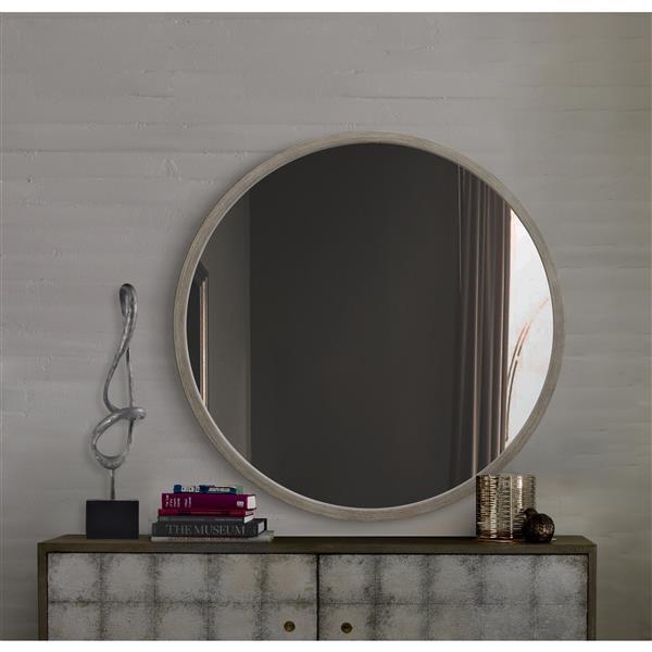 Notre Dame Design Birman Mirror - 34-in x 34-in- Wood  - Gray