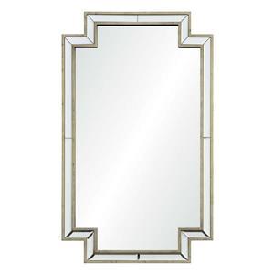 """Miroir Raton, Notre Dame Design, 24"""" x 40"""", bois, argent"""