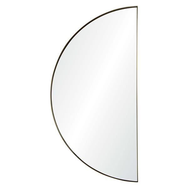 "Miroir Halfmoon, Notre Dame Design, 20,5"" x 40"", métal,"