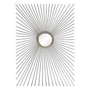"""Miroir Sydney, Notre Dame Design, 25"""" x 30"""", métal, argent"""