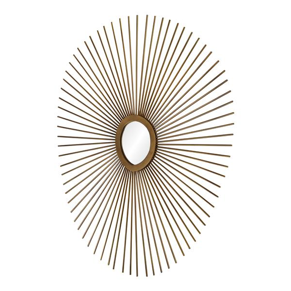 """Miroir Seattle, Notre Dame Design, 27"""" x 30"""", métal, cuivré"""