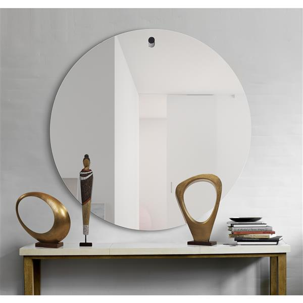 Notre Dame Design Brody Mirror - 48-in x 48-in- Glass - Clear