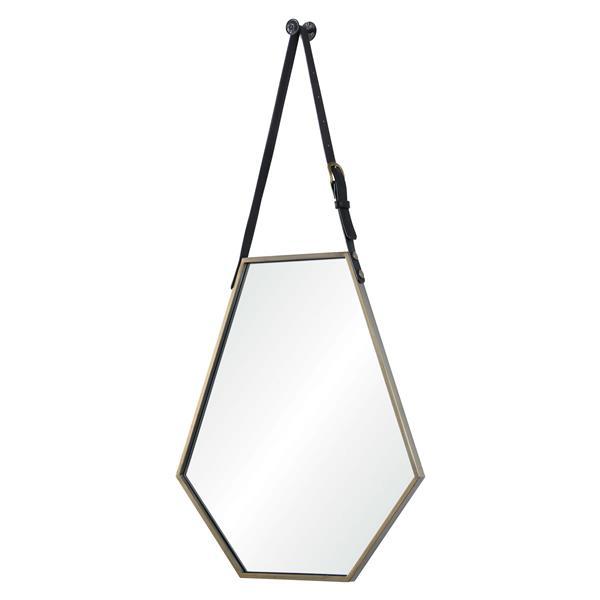 """Miroir Koda, Notre Dame Design, 22"""" x 25"""", métal, bronze"""