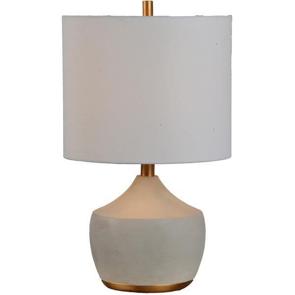 """Lampe Horme, Notre Dame Design, 12"""", résine, gris"""