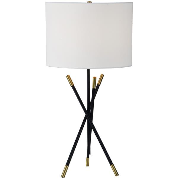 Notre Dame Design Hudswell Lamp - 27-in - Metal - White