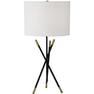 "Lampe Hudswell, Notre Dame Design, 27"", métal, blanc"