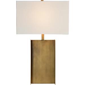 "Lampe Acker, Notre Dame Design, 26"", métal, blanc"