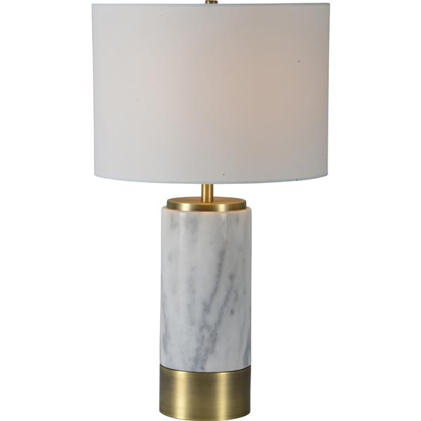 Notre Dame Design Hainsworth Lamp - 24.5-in - Metal - Gray