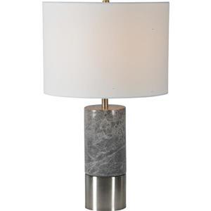 """Lampe Armley, Notre Dame Design, 23"""", métal, blanc cassé"""