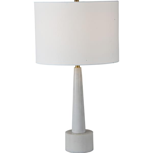 Notre Dame Design Normanton Lamp - 26-in - Fabric -Off-white