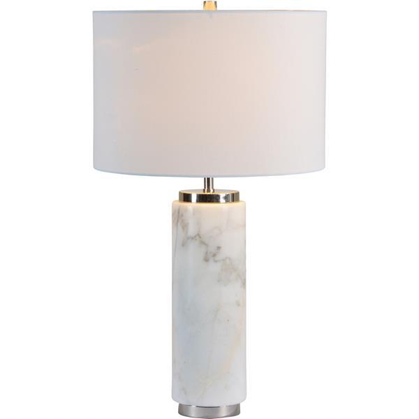 Notre Dame Design Heathcroft Lamp -26.5-in -Off-white Fabric