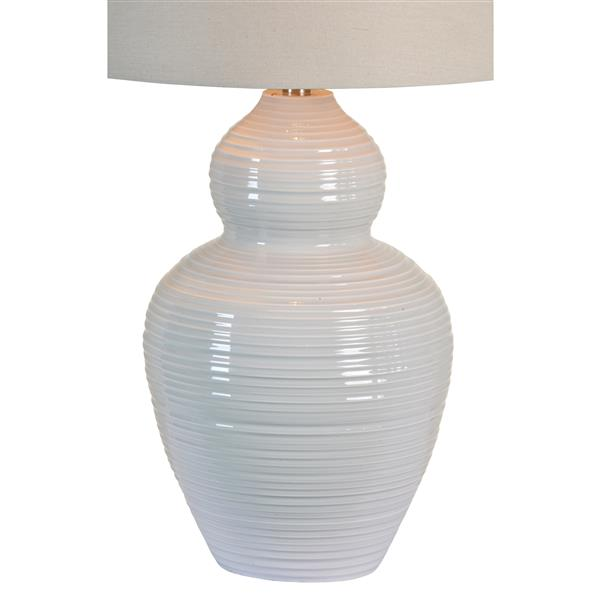 Notre Dame Design Latchmore Lamp - 32-in - Fabric - Gray