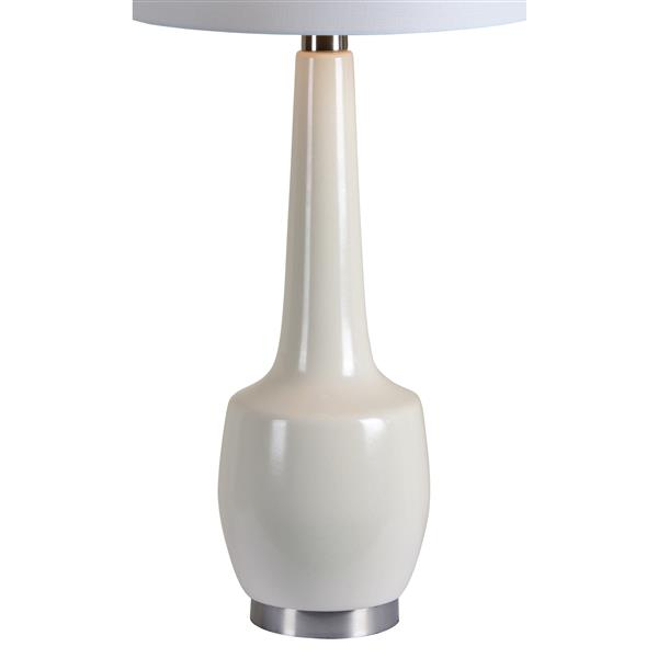 Notre Dame Design Kirkgate Lamp - 35.5-in - Fabric - White