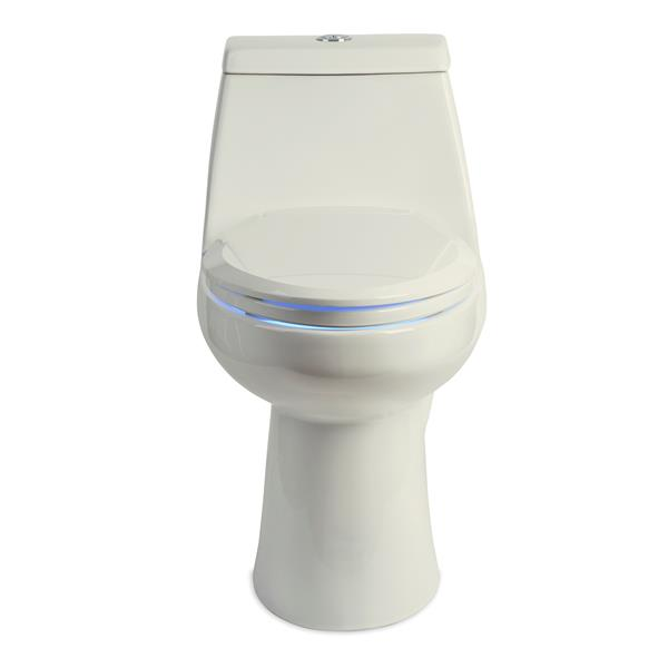 Brondell LumaWarm Heated Bidet Seat 14.3-in x 18.5-in Biscuit