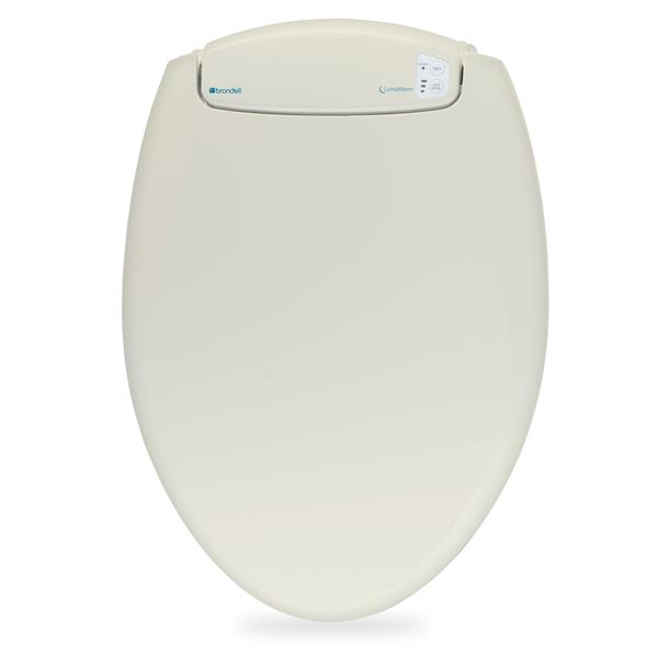 Brondell LumaWarm Heated Bidet Seat 14.3-in x 20-in Biscuit