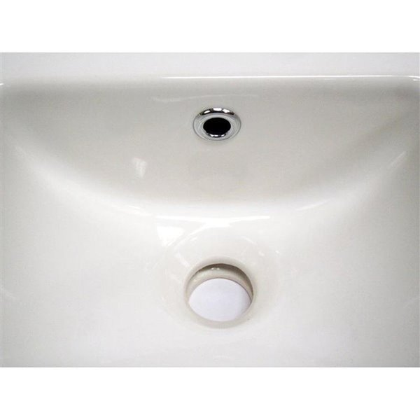 ALFI Brand White Porcelain Wall-Mount Rectangular Bathroom Sink with Overflow