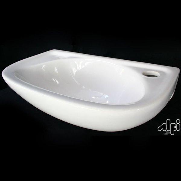 ALFI Brand White Wall-Mount Rectangular Bathroom Sink