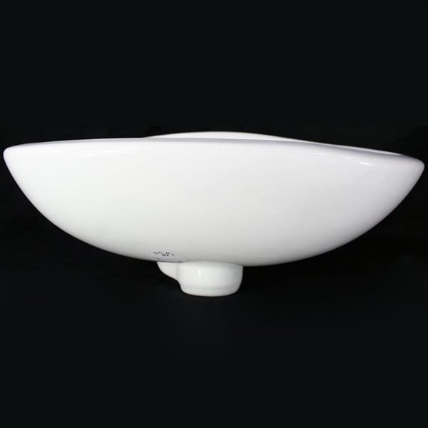ALFI Brand White Wall-Mount Oval Bathroom Sink With Overflow