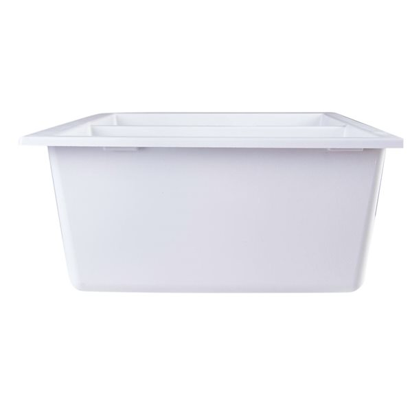 ALFI brand 17.75-in x 34-in White Double-Basin Undermount Residential Kitchen Sink