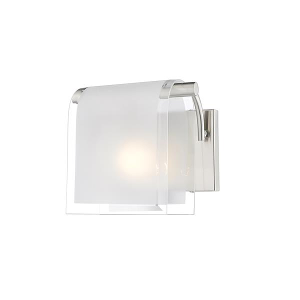 Z-Lite Zephyr 7.66-in Brushed Nickel 1 Light Wall Sconce